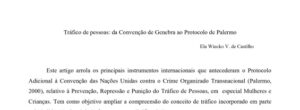 thumbnail of Trafico de pessoas da Convencao de Genebra ao Protocolo de Palermo